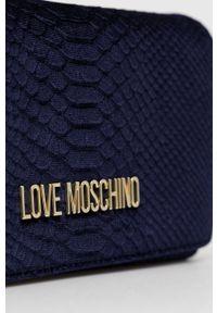 Love Moschino - Torebka. Kolor: niebieski