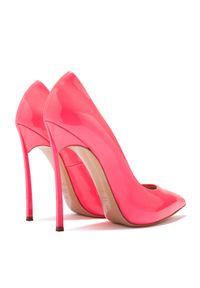 Casadei - CASADEI - Różowe szpilki Blade. Kolor: różowy, wielokolorowy, fioletowy. Obcas: na szpilce. Styl: elegancki