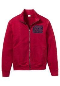 Bluza rozpinana bonprix Bluza rozpinana c.czerw. Typ kołnierza: kołnierzyk stójkowy. Kolor: czerwony. Wzór: nadruk