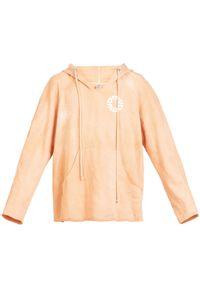 ROBERT KUPISZ - Pomarańczowa bluza Now Game. Kolor: pomarańczowy. Materiał: materiał. Długość rękawa: długi rękaw. Długość: długie. Wzór: nadruk
