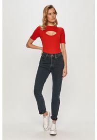 Niebieskie proste jeansy Levi's® na spotkanie biznesowe, gładkie, biznesowe