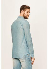 Niebieska koszula Blend button down, na co dzień, casualowa