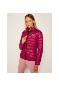 Różowa kurtka zimowa EA7 Emporio Armani
