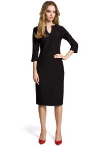 Czarna sukienka wizytowa MOE wizytowa