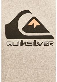 Szara bluza nierozpinana Quiksilver casualowa, z kapturem #5
