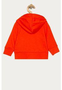 Pomarańczowa bluza rozpinana GAP casualowa, na co dzień, z aplikacjami