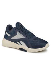 Niebieskie buty do fitnessu Reebok z cholewką