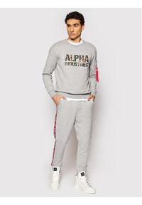 Alpha Industries Spodnie dresowe Rbf Tape 196317 Szary Regular Fit. Kolor: szary. Materiał: dresówka