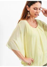 Bluzka bonprix cytrynowy sorbetowy. Kolor: żółty