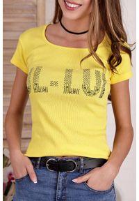 Żółty top IVET z nadrukiem