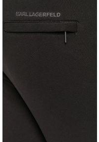 Czarne szorty Karl Lagerfeld gładkie, casualowe