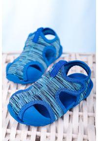 Casu - niebieskie sandały na rzep casu la109. Zapięcie: rzepy. Kolor: niebieski