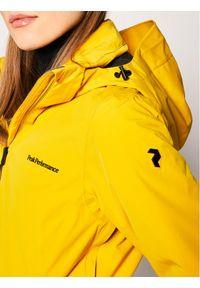 Żółta kurtka zimowa Peak Performance