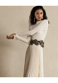 Beżowa sukienka Ralph Lauren casualowa, na co dzień, midi, na wiosnę