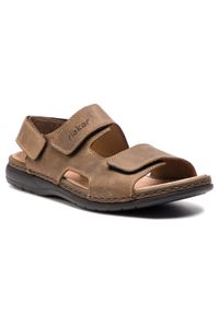 Brązowe sandały Rieker klasyczne, na lato