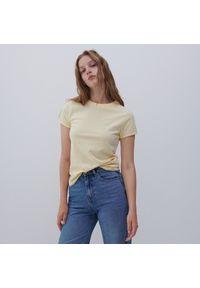 Reserved - Bawełniana koszulka - Żółty. Kolor: żółty. Materiał: bawełna