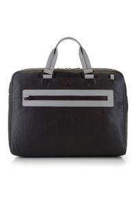 Szara torba na laptopa Wittchen casualowa, w kolorowe wzory