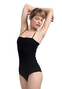 MOE - Bawełniane Body na Cienkich Ramiączkach - Czarna. Kolor: czarny. Materiał: bawełna. Długość rękawa: na ramiączkach
