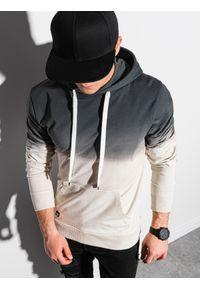 Ombre Clothing - Bluza męska z kapturem B1148 - grafitowa - XXL. Typ kołnierza: kaptur. Kolor: szary. Materiał: bawełna #3