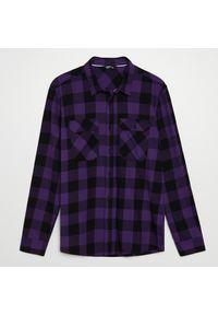 Cropp - Koszula w kratę - Fioletowy. Kolor: fioletowy