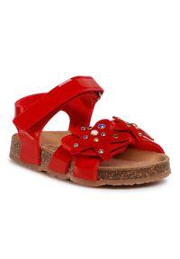 Czerwone sandały Sergio Bardi Young z aplikacjami, na lato