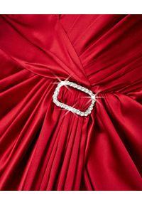 ALEXANDRE VAUTHIER - Czerwona sukienka z jedwabiu. Kolor: czerwony. Materiał: jedwab. Wzór: aplikacja. Styl: wizytowy. Długość: mini