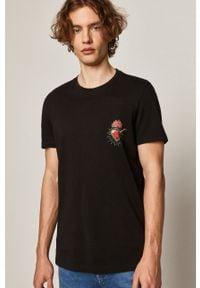 Czarny t-shirt medicine w kolorowe wzory