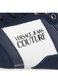Niebieskie sneakersy Versace Jeans Couture z cholewką