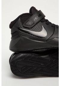 Czarne buty sportowe Nike Kids na rzepy, z cholewką, z okrągłym noskiem #5