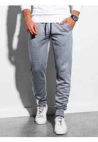 Ombre Clothing - Spodnie męskie dresowe joggery P867 - szare - XXL. Kolor: szary. Materiał: dresówka #2