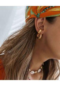 SELFIE JEWELLERY - Złocona nausznica Top Velvet. Materiał: pozłacane, z mosiądzu. Kolor: złoty