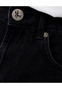 ONETEASPOON - Czarne spodenki Bandits High Waist. Stan: podwyższony. Kolor: czarny. Materiał: jeans. Wzór: aplikacja #4