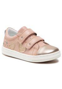 Sergio Bardi Kids - Sneakersy SERGIO BARDI KIDS - SBK-01-05-000045 127. Zapięcie: rzepy. Kolor: różowy. Materiał: skóra. Szerokość cholewki: normalna. Wzór: aplikacja