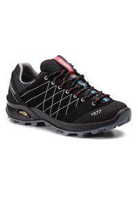 Czarne buty trekkingowe Grisport z cholewką, trekkingowe