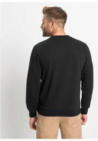 Bluza bonprix Bluza sportowa czarny. Kolor: czarny. Styl: sportowy