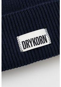 Drykorn - Czapka z domieszką wełny Loah. Kolor: niebieski. Materiał: wełna