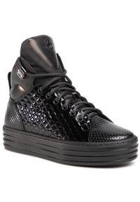 Eva Minge - Sneakersy EVA MINGE - EM-08-08-000863 601. Okazja: na co dzień. Kolor: czarny. Materiał: skóra, lakier. Sezon: lato. Styl: elegancki, sportowy, casual