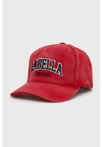LABELLAMAFIA - LaBellaMafia - Czapka. Kolor: czerwony. Wzór: aplikacja