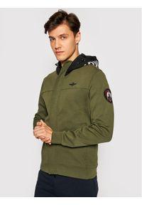 Aeronautica Militare Bluza 211FE1595F431 Zielony Regular Fit. Kolor: zielony
