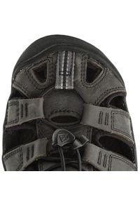 keen - Sandały KEEN - Clearwater Cnx Leather 1013107 Magnet/Black. Kolor: szary. Materiał: skóra, nubuk, materiał. Sezon: lato. Sport: turystyka piesza