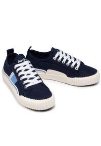Pepe Jeans - Tenisówki PEPE JEANS - Ottis Boy PBS30476 Navy 595. Okazja: na uczelnię, na spacer. Kolor: niebieski. Materiał: materiał. Szerokość cholewki: normalna