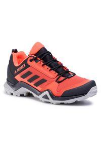 Pomarańczowe buty do biegania Adidas Adidas Terrex, z cholewką