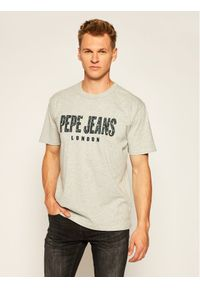 Pepe Jeans T-Shirt Salvador PM507273 Szary Relaxed Fit. Kolor: szary