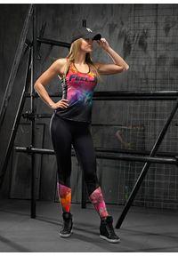 Koszulka sportowa FJ! w kolorowe wzory, na jogę i pilates