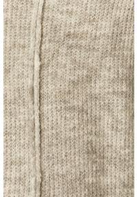 Vero Moda - Sweter. Okazja: na co dzień. Kolor: szary. Materiał: dzianina. Długość rękawa: długi rękaw. Długość: długie. Styl: casual