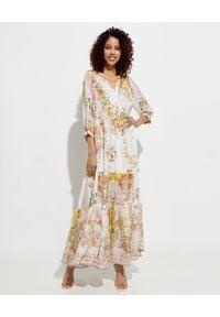 Żółta sukienka Camilla maxi, elegancka