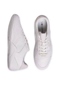 Białe buty sportowe Lacoste z cholewką, na co dzień