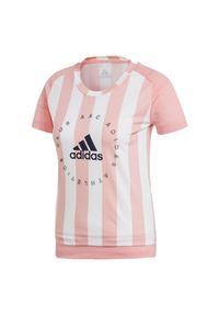 Adidas - Koszulka damska adidas Slim Graphic FI6746. Materiał: bawełna, poliester, wiskoza, materiał. Sport: fitness