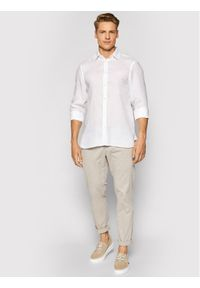 Trussardi Jeans - Trussardi Koszula 52C00212 Biały Close Fit. Kolor: biały