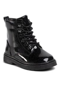 Nelli Blu - Trzewiki NELLI BLU - CMYF001-31 Black. Okazja: na spacer. Kolor: czarny. Materiał: skóra. Sezon: zima. Styl: młodzieżowy